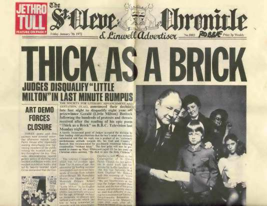 Jethro tull - Thich as a Brick